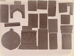 Casts from various architectural ornaments at Fatehpur Sikri 1003643